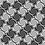 Papel de Parede Adesivo Abstrato Quarto de Solteiro Preto e Branco Redemoinho AB14083