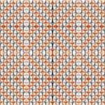 Papel de Parede Adesivo Abstrato Sala de Jantar Laranja Mandala AB14081