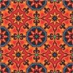 Papel de Parede Adesivo Abstrato Varanda Laranja Mandala AB14012