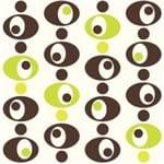 Papel de Parede Adesivo Abstrato Verde Neon Cozinha Formas Espaciais AB14109