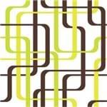 Papel de Parede Adesivo Abstrato Verde Neon Quarto de Solteiro Ligações AB14106