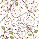 Papel de Parede Adesivo - Arabesco Floral - N0916