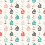 Papel de Parede Adesivo - Barco e Ancora Color - N0021
