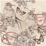 Papel de Parede Adesivo - Chá com Pássaros - N0017