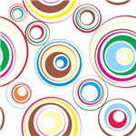 Papel de Parede Adesivo - Círculos Coloridos - N0902