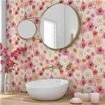 Papel de Parede Adesivo Flores Rosas do Campo RM25001