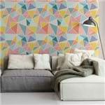 Papel de Parede Adesivo Geométrico Triângulos Coloridos Sala Alegoria GM180042