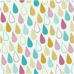 Papel de Parede Adesivo - Gotas Coloridas - N0905