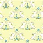 Papel de Parede Adesivo Infantil Amarelo Quarto Elefantinha IF12147
