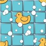 Papel de Parede Adesivo Infantil Azul e Amarelo Patinho Hora do Banho IF12167