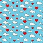 Papel de Parede Adesivo Infantil Azul e Vermelho Quarto In Love IF122372