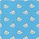 Papel de Parede Adesivo Infantil Azul Quarto de Menino Barcos IF12164