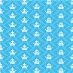 Papel de Parede Adesivo Infantil Azul Quarto do Meu Princepezinho IF12232