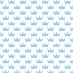 Papel de Parede Adesivo Infantil Azul Quarto do Meu Reizinho IF12233