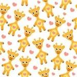 Papel de Parede Adesivo Infantil Bege Girafinhas Gigi IF122389