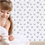 Papel de Parede Adesivo Infantil Borboletas Rosa e Roxo 2,70x0,57m