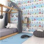 Papel de Parede Adesivo Infantil Giovana Lumertz Azul Quarto Masculino Sea GY310