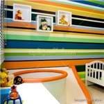 Papel de Parede Adesivo Infantil Listrado Colorido Miguel LT18101