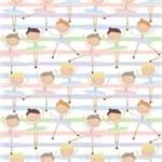 Papel de Parede Adesivo Infantil Quarto de Menina Baila Bailarina IF122384