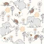 Papel de Parede Adesivo Infantil Quarto do Elefante Amiguinho IF122399