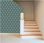 Papel de Parede Adesivo Rolo 0,58x3,00M Abstrato Geométrico Azul Marrom 629846772