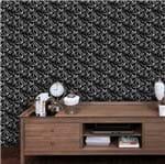 Papel de Parede Adesivo Rolo 0,58x3,00M Abstrato Traços Branco e Preto 285296000