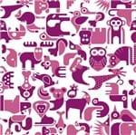 Papel de Parede Adesivo Rolo 0,58x3,00M Animais Rosa 287081951