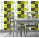 Papel de Parede Adesivo Rolo 0,58x3,00M Azulejo Xicara 70053