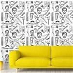 Papel de Parede Adesivo Rolo 0,58x3,00M Barbearia Masculino Homem 350897279