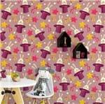 Papel de Parede Adesivo Rolo 0,58x3,00M Coelho Estrela Infantil Feminino Menina 174901349