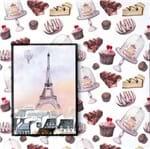 Papel de Parede Adesivo Rolo 0,58x3,00M Doces Cozinha Chocolate 285130853