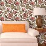 Papel de Parede Adesivo Rolo 0,58x3,00M Flor Folha Verde Rosa 406150711