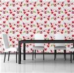 Papel de Parede Adesivo Rolo 0,58x3,00M Floral Flores Artístico 150545678