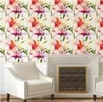 Papel de Parede Adesivo Rolo 0,58x3,00M Floral Flores Artístico Aquarela 158467808