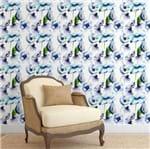 Papel de Parede Adesivo Rolo 0,58x3,00M Floral Flores Artístico Aquarela Azul 157556498