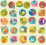 Papel de Parede Adesivo Rolo 0,58x3,00M Infantil Alfabeto Ilustrado77099926