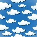 Papel de Parede Adesivo Rolo 0,58x3,00M Infantil Nuvem Céu 257858465