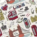 Papel de Parede Adesivo Rolo 0,58x3,00M Londres London 291492644