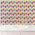 Papel de Parede Adesivo Rolo 0,58x3,00M Manicure Esmalteria Salao Feminino 392672098
