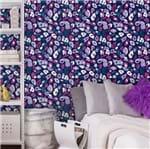 Papel de Parede Adesivo Rolo 0,58x3,00M Pink Roxo Azul 352788425