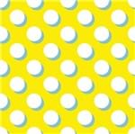 Papel de Parede Adesivo Rolo 0,58x3,00M Poa Amarelo 377852908