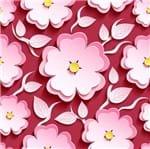 Papel de Parede Adesivo Rolo 0,58x3,00M Rosa Vermelho 319132811