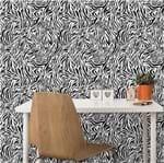 Papel de Parede Adesivo Rolo 0,58x3,00M Zebra 141864568