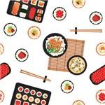 Papel de Parede Adesivo - Sushi - N0052