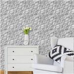 Papel de Parede Autocolante Abstrato Branco e Preto 0305