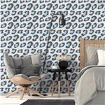 Papel de Parede Autocolante Animal Print Onça Azul 147529022
