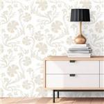 Papel de Parede Autocolante Arabesco Floral BRanco 550163053