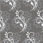 Papel de Parede Autocolante Arabesco Floral Cinza 591713807
