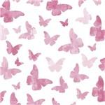 Papel de Parede Autocolante Borboletas Rosa 370960250