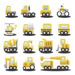 Papel de Parede Autocolante Caminhão Amarelo 534